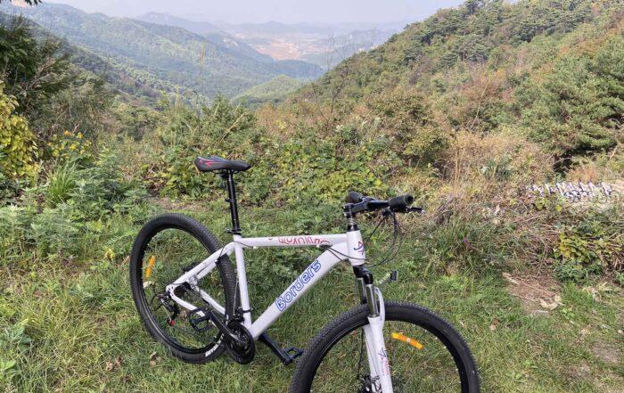 Bike tour in North Korea