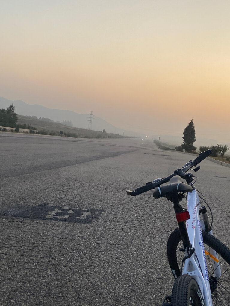 Bike on Highway